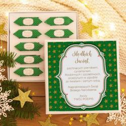 PREZENT świąteczny Pudełko z krówkami Z TWOIM PODPISEM Zielone Święta