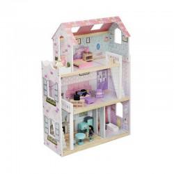 PREZENT świąteczny Domek dla lalek drewniany GIGANT 90cm +24 elementy