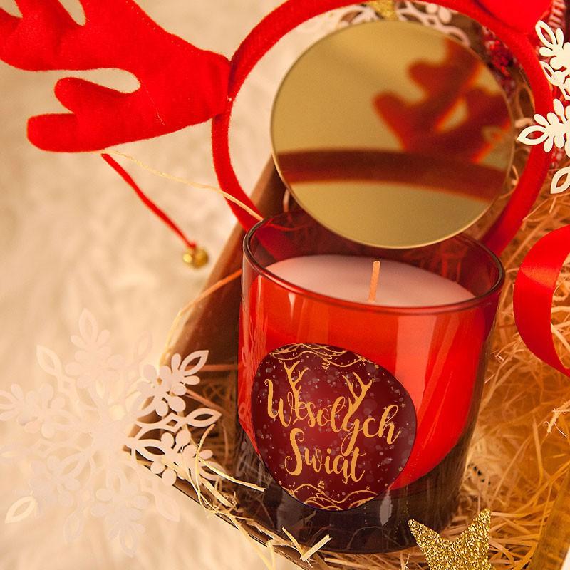 Świateczna świeca zapachowa