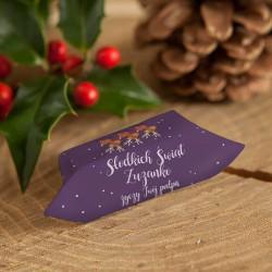 KRÓWKI świąteczne dla dzieci Z TWOIM PODPISEM Wesołe Renifery 20szt