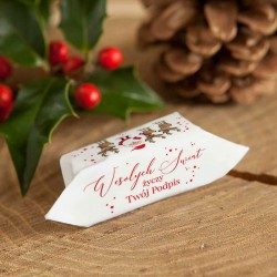 KRÓWKI świąteczne dla dzieci Z TWOIM PODPISEM Mikołaj i renifery 20szt