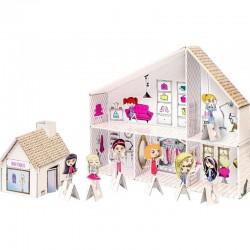 SALON piękności do kolorowania prezent 58cm +figurki+butik
