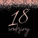 Dekoracje urodzinowe Rosegold Black