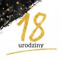 Dekoracje urodzinowe Złoto-Czarne