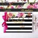 Dekoracje urodzinowe Flowers&Stripes