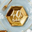 Dekoracje urodzinowe Złote