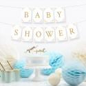 Banery i grilandy na Baby Shower