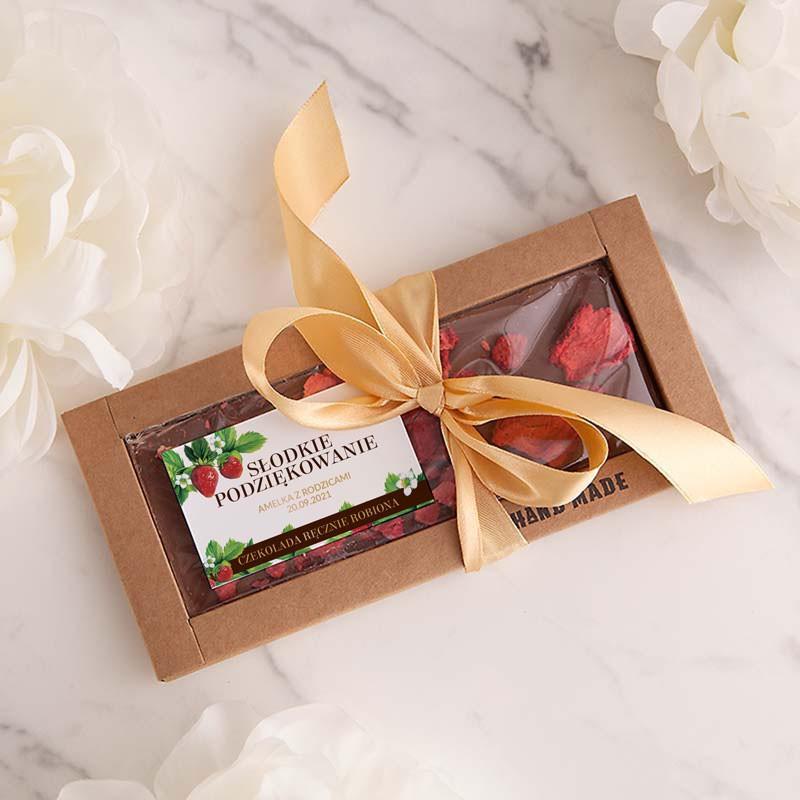 Ręcznie robiona czekolada z truskawkami