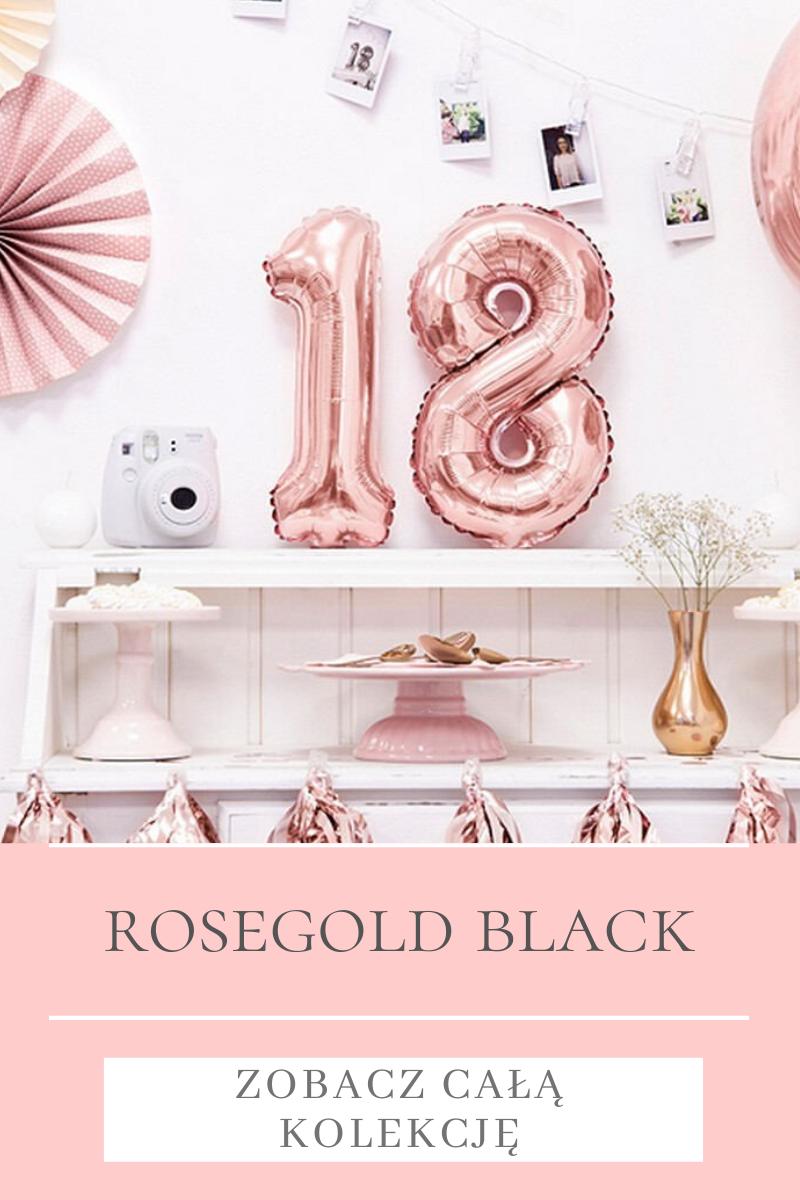Dekoracje urodzinowe Rosegold