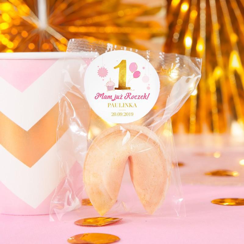 Ciasteczka z wróżbą Różowo-złota jedynka
