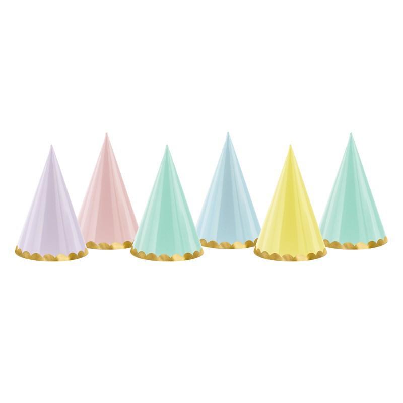 Czapeczki pastelowe na przyjęcie