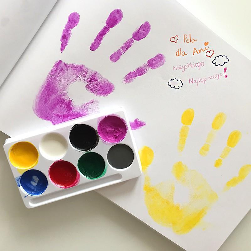 Farbki do malowania rąk do odcisków