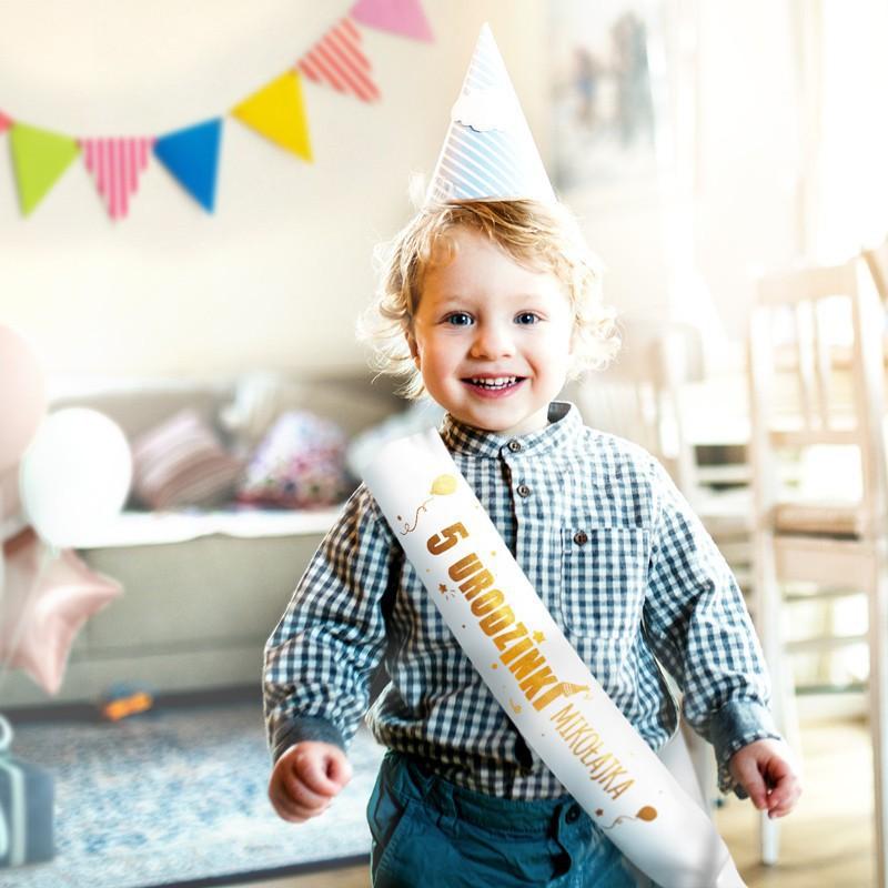 Szarfa na roczek i urodzinki personalizowana