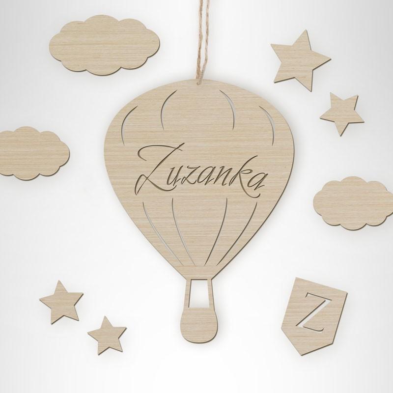 Drewniany balon z imieniem