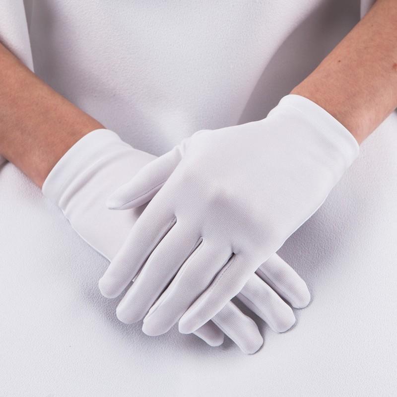 Gładkie rękawiczki komunijne